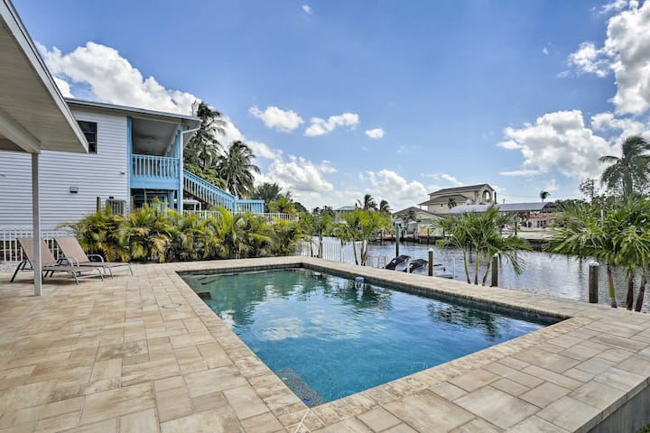 Updated St. James City Home on Canal w/Pool & Dock