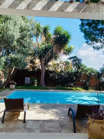 Deux chambres ds villa avec piscine Gar EL Melh