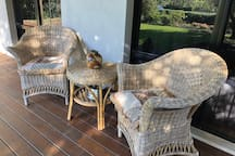 Sit on the front verandah and watch the blue wrens swan around the place.