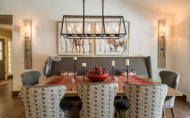 Comfortable Dining Room Seating.