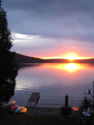 Vue sur le lac Témiscouata