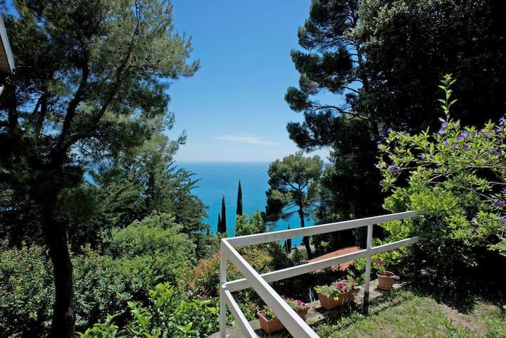 Panorama e natura selvaggia sul golfo di Lerici - Zanego