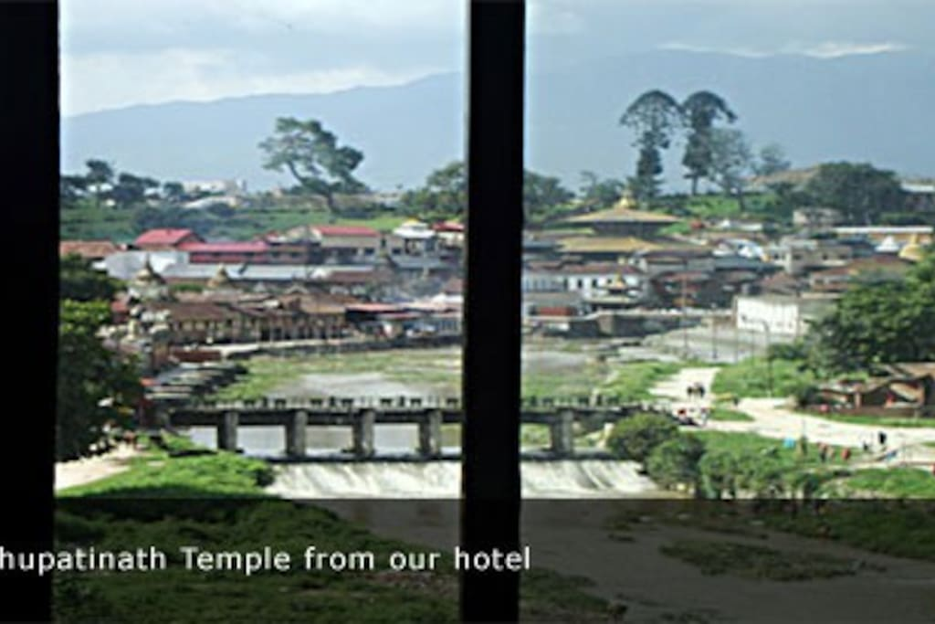 view of Pashupatinath from our hotel