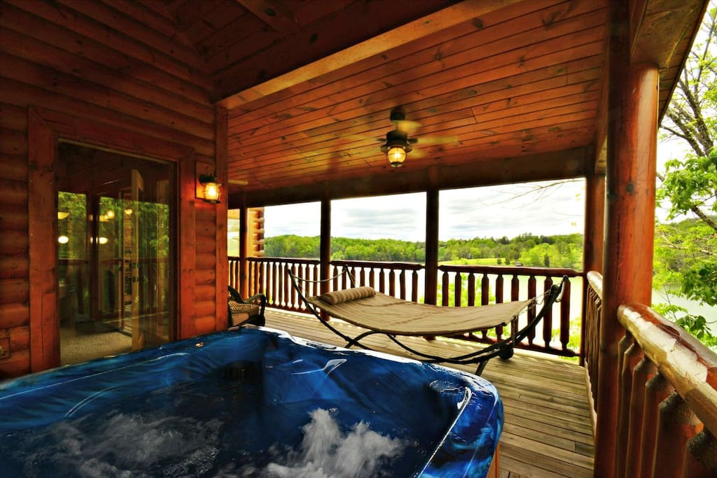 Spend some downtime in the hottub after those long days.