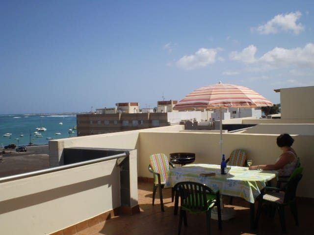 Seafront apartment in Corralejo harbour area.