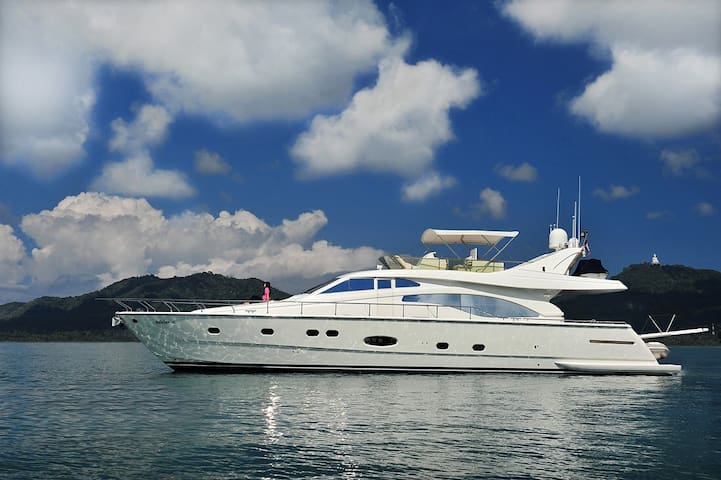 Phuket - Chalong harbour 70ft Luxury Yacht stay
