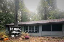 Fall is the most beautiful time of year in Southern Illinois! The Refuge Cottage is the perfect place to cozy up in front of the gas fireplace, or next to a campfire!