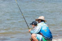 Nothing better than teaching your kids to fish!