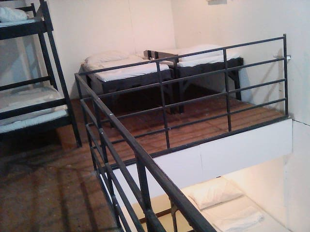 Loft type private room for 9 people