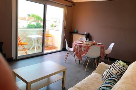 Confortable appartement T2, 48m2, parking privé.