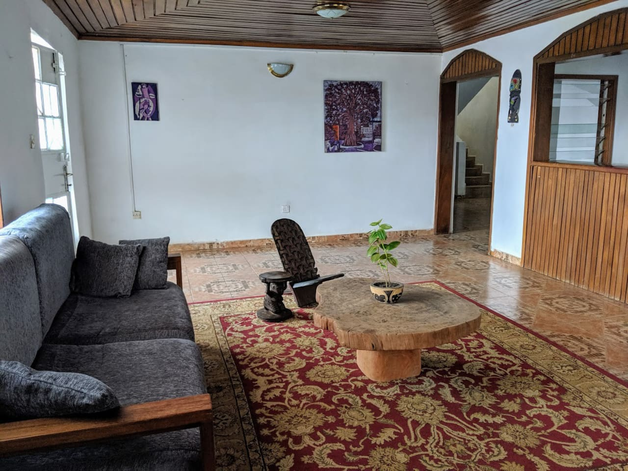 Our guesthouse will make you feel at home in Freetown. All furniture is handmade locally by artisans, nothing is imported!