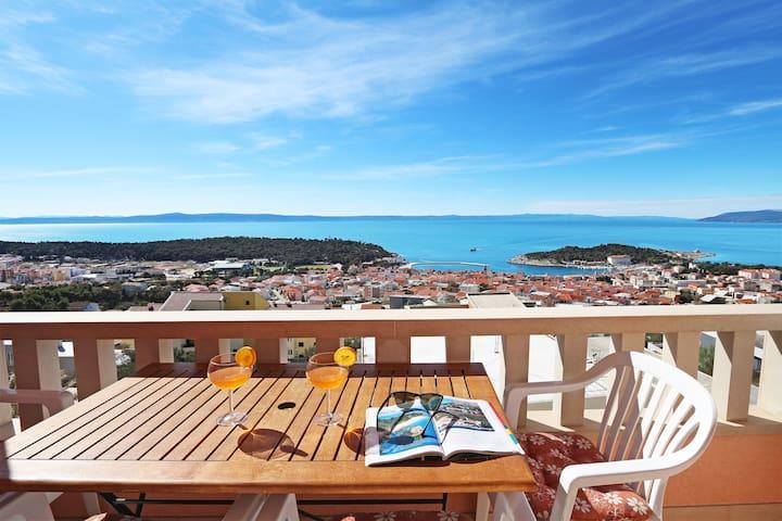 Apartment Emilija 1, sea view - Makarska - Apartamento