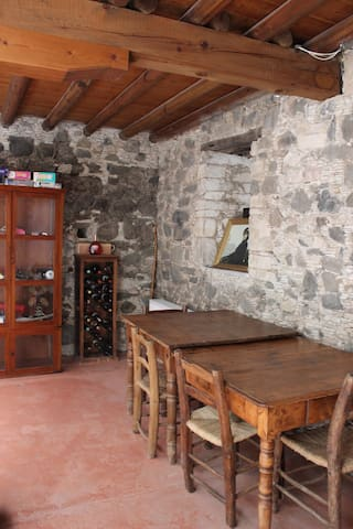 Cellar and extra dining room
