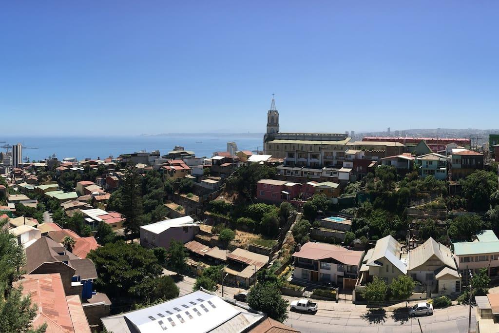 Vista desde la terraza común del edificio.