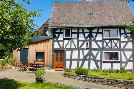 300 year old half-timbered house