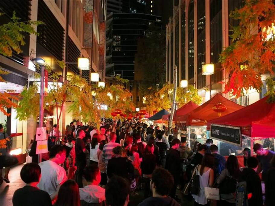 Sydney's Chinatown Night Market every Friday night.