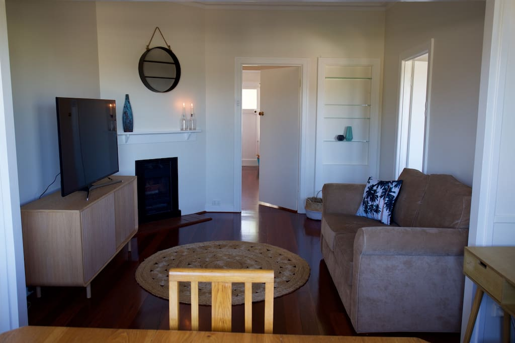 Beachy, contemporary and stylish lounge with new smart TV and wireless internet