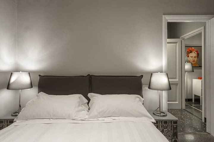 Appartamento 13 Porto Antico Suite Genova - Dettaglio zona notte