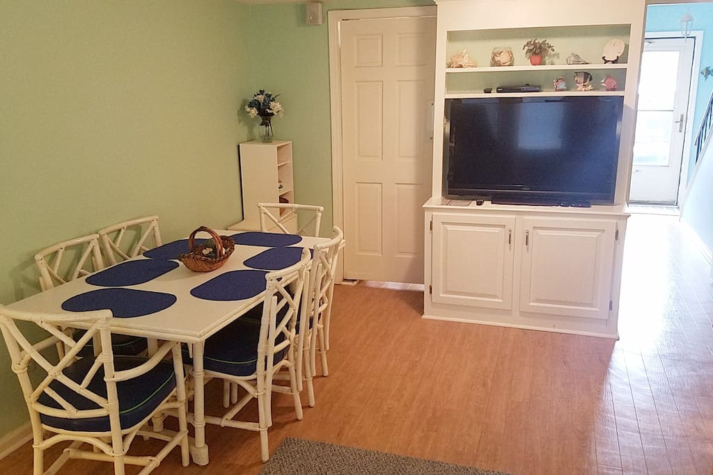 Kitchen Table and TV