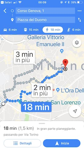 a very easy and short walk to Duomo Cathedral....18 minutes
