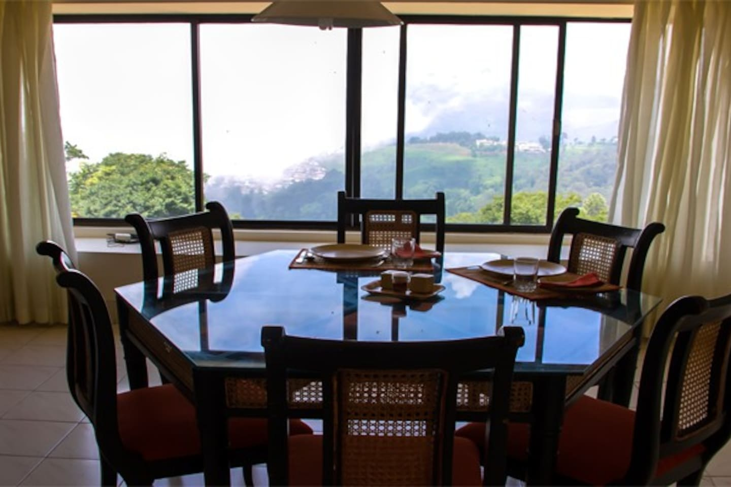 Dining Room with a stunning view of the surrounding hills