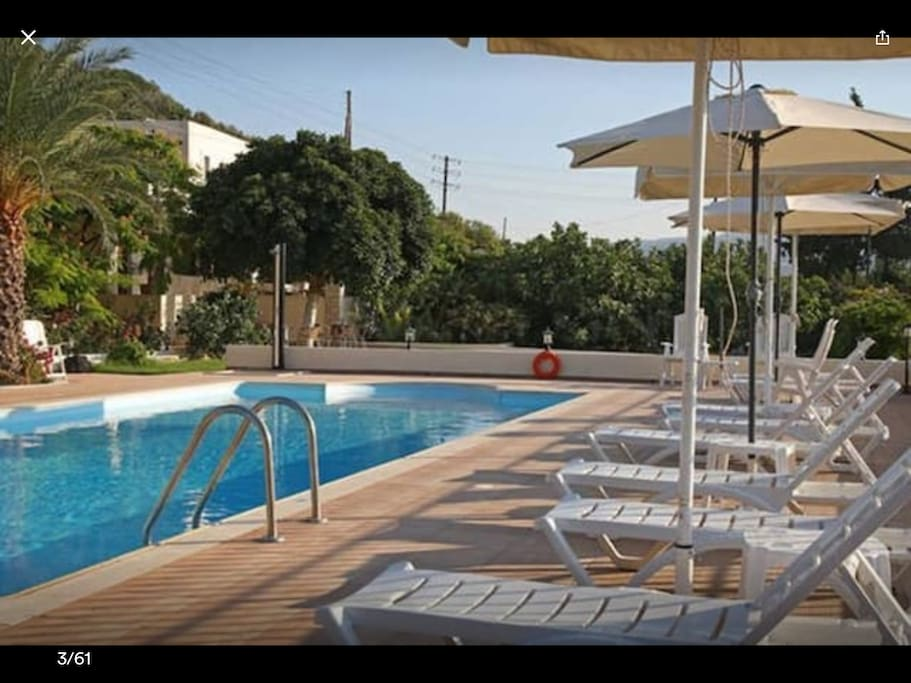Swimming pool and sun-beds to enjoy the day
