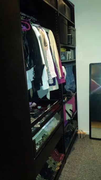 Gardrobe in bedroom'