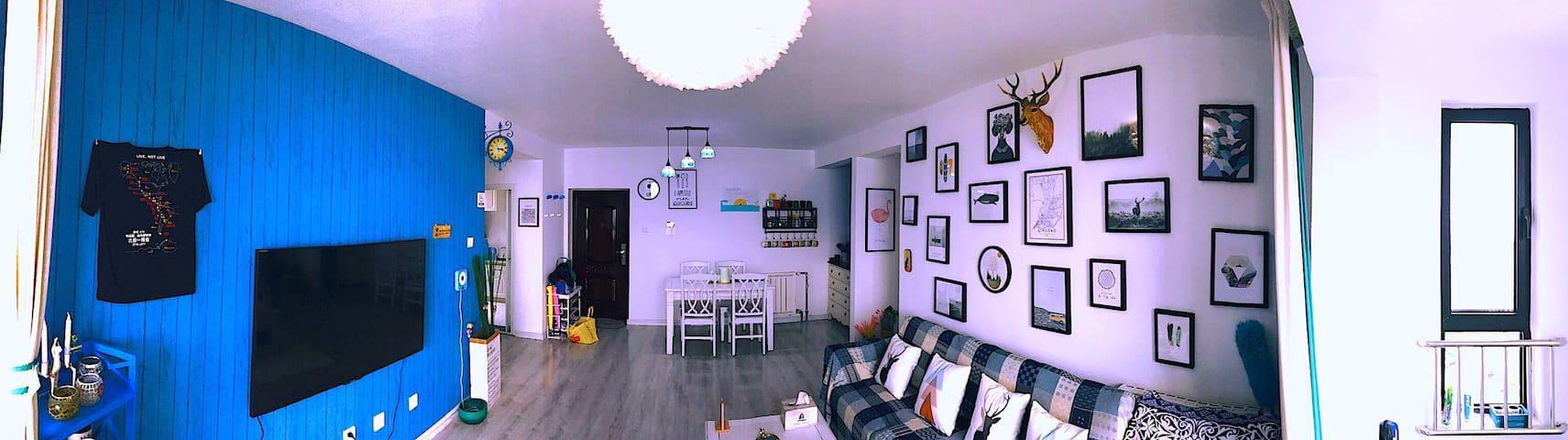 客厅全景照 panorama of the living room