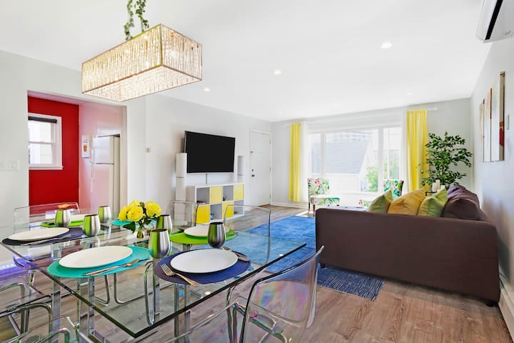 Relax, unwind, or entertain in your modern and spacious living room