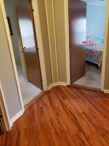 Entry way to bedrooms, #4 ,and #5. Very close to shared bathroom.