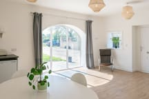 The light, airy living space is an ideal place to relax