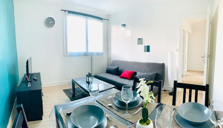 APPARTEMENT COCOONING - PROCHE CENTRE VILLE - WIFI