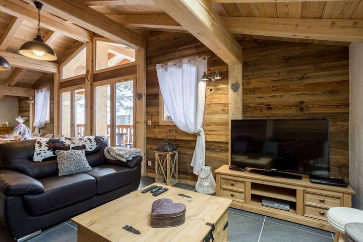 Chalet Luxury****, 160m2  Sauna, 4 sdb, 13 p, 5 ch