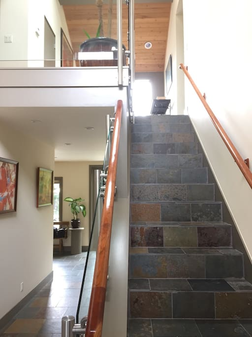 Entry hall and stairs.