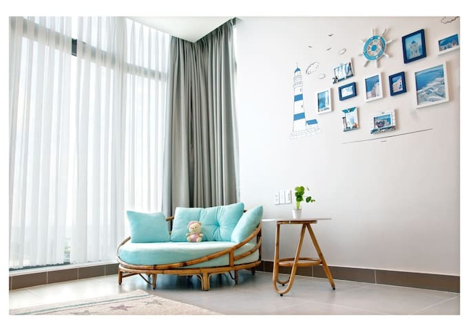 Nice seaview apartment, FREE pool & private beach