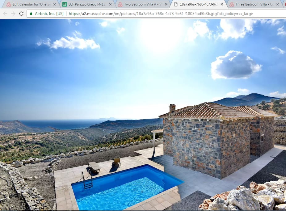 Palazzo Greco two bedroom Villas is a great option if you are travelling to South Crete with extensive family or a group of friends.
