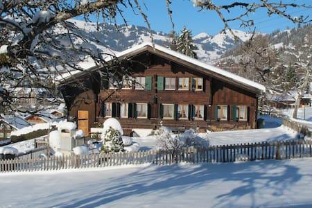 Gemütliche Ferienwohnung mit herrlicher Aussicht - Gstaad