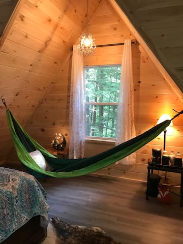 Peaceful hammock available in the loft.