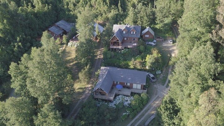 Casa orilla de lago Riñihue