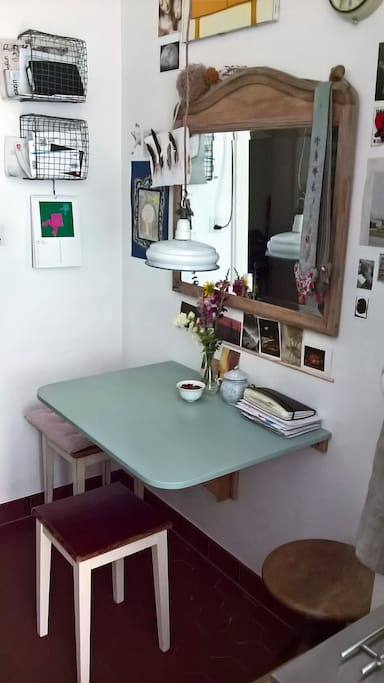 small dining area in kitchen
