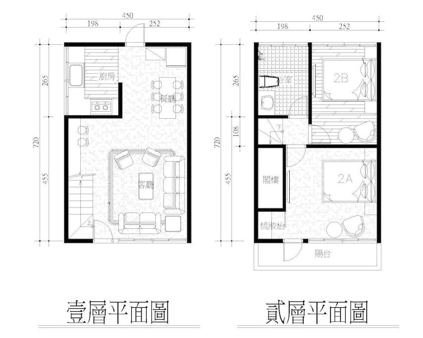 1、2樓平面圖