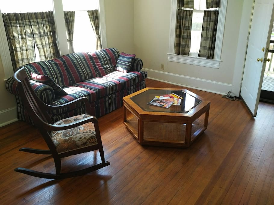 Comfy living area, information on local attractions