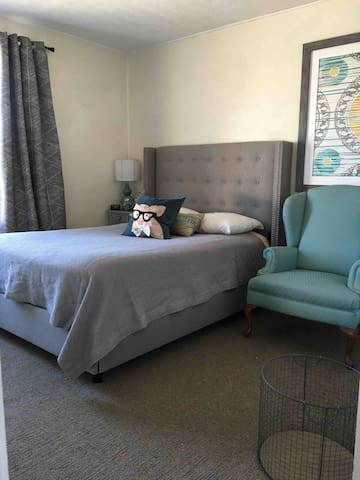 Full size bed in private bedroom
