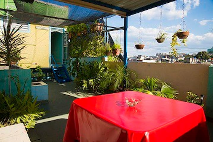 HOSTAL MIRADOR  (WI-FI) BALCONY AND TERRACE .