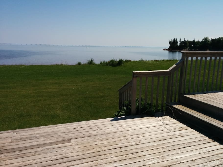 Sit on the deck and enjoy the view of the Confederation Bridge
