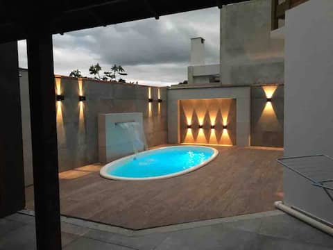 House in Zimbros with Heated Pool day and night