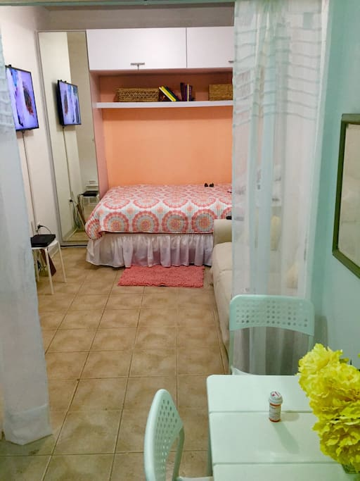 Comfortable studio! One full bed and closet. Fully furnished and just renovated.