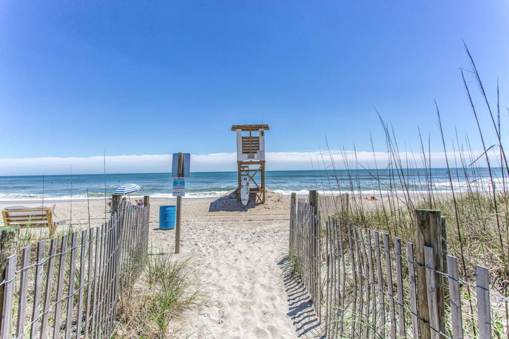 Feel safe with the Life Guard Station located just a short walk from South End Serenity