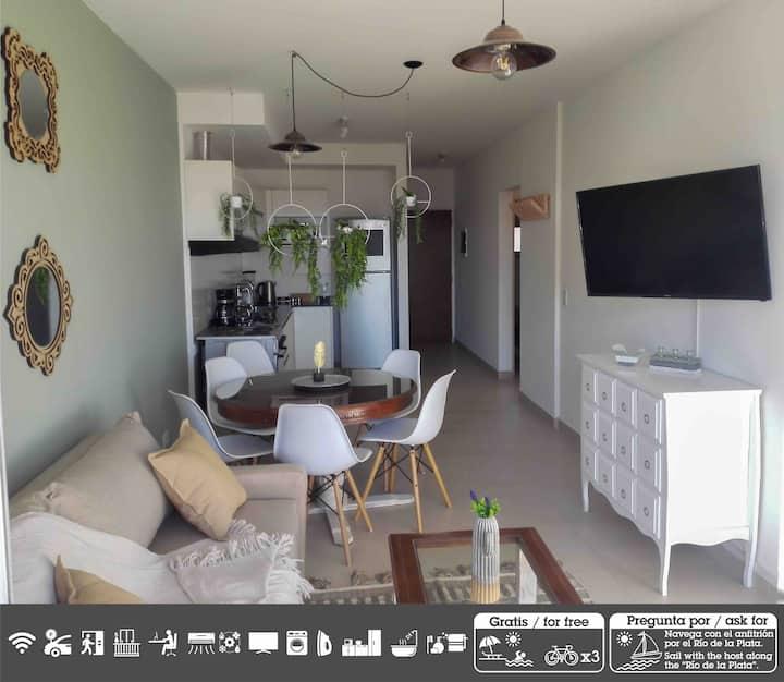 Apartamento en palermo p/6 pers c/cochera y bici.