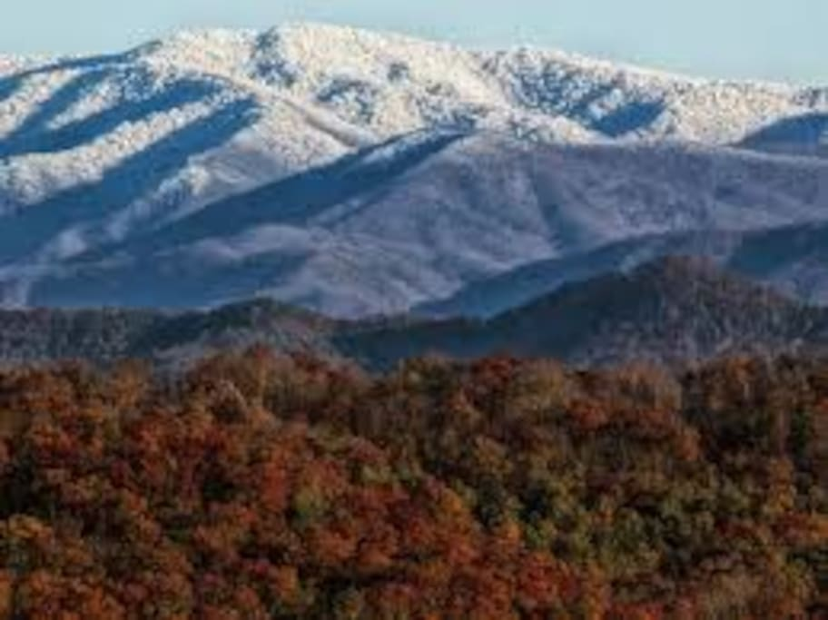 Snow Cap Smoky Mountains
